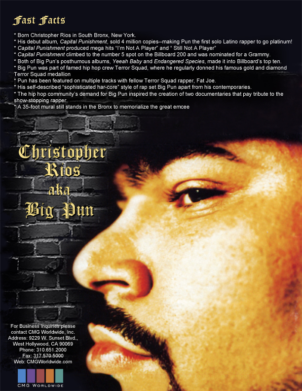 Big Pun One Sheet