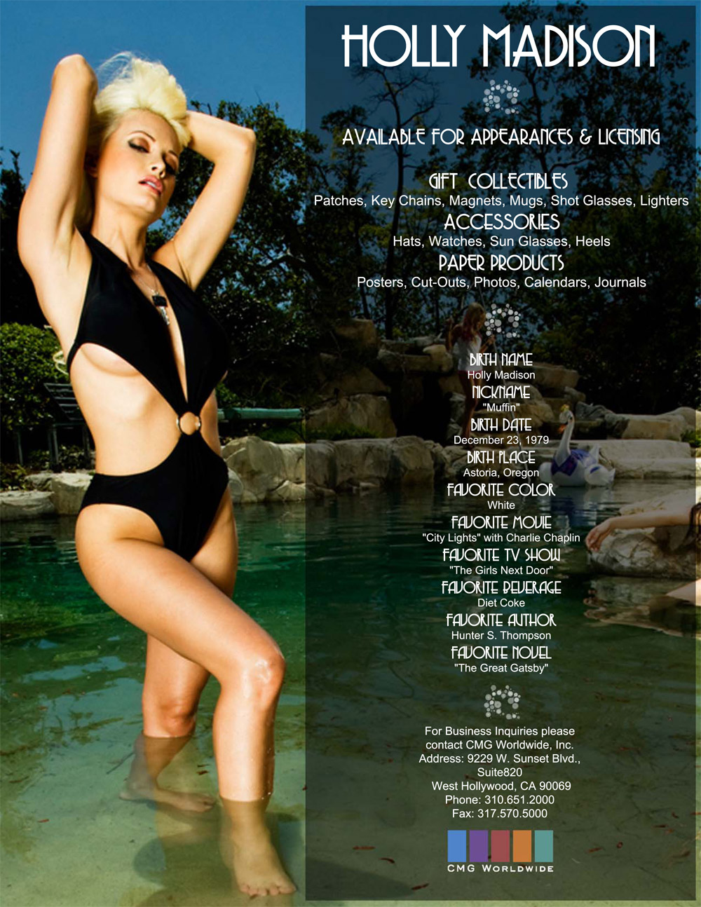 Holly Madison One Sheet