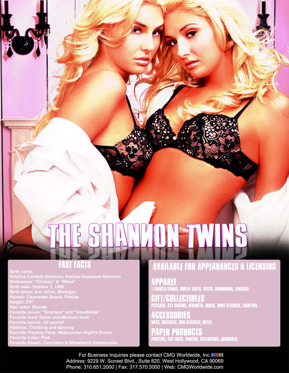 Shannon Twins One Sheet