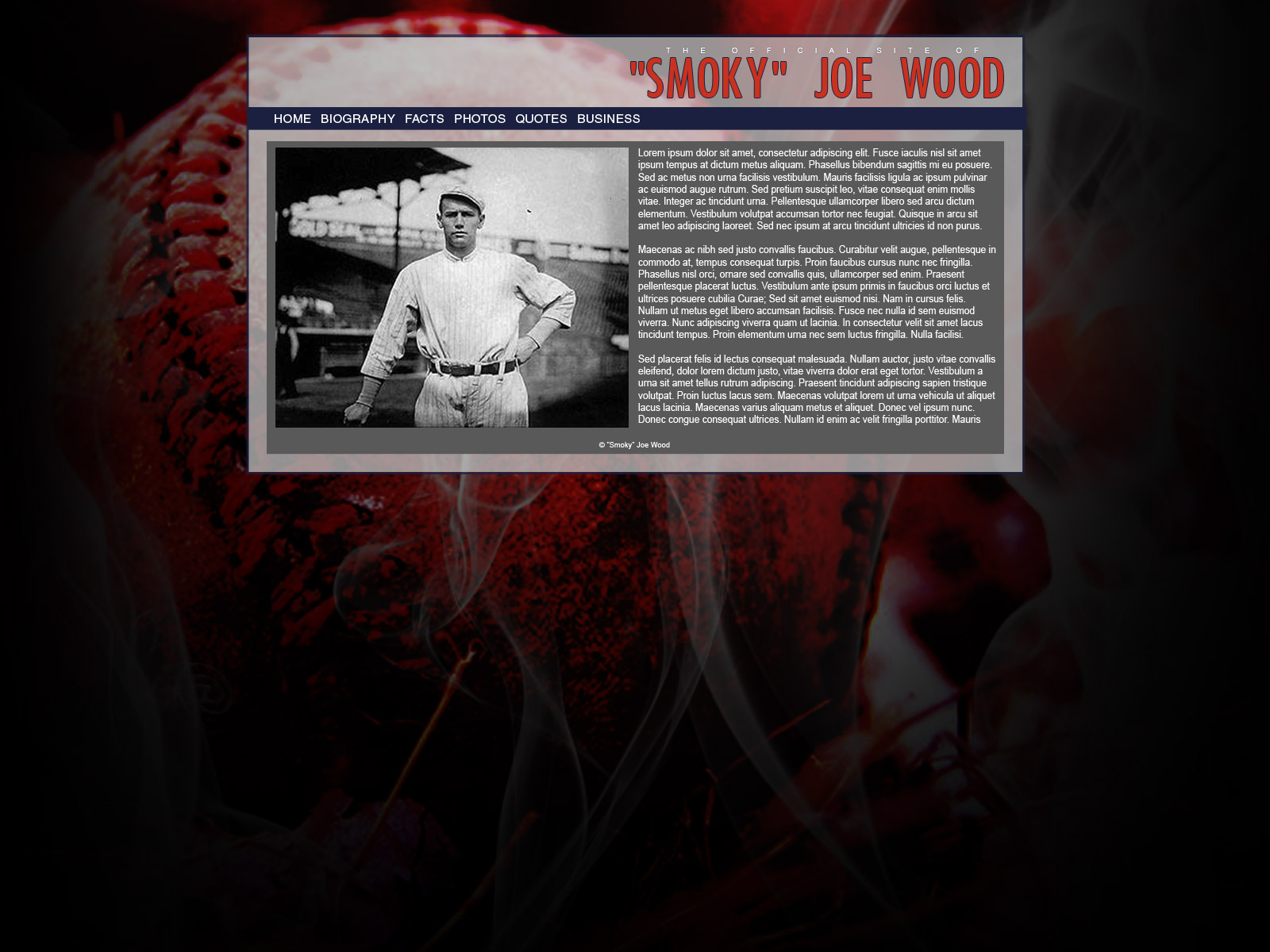 'Smoky' Joe Wood